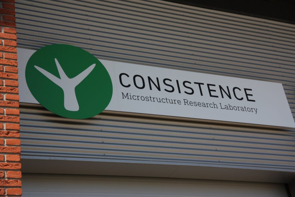 Consistence Microstructure Research Laboratory logo at exterior